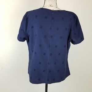 Boden Tops - Boden Ladies Blue Embroidered Blouse  12